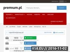Miniaturka domeny raportkredytowy.pl