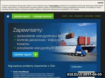 Zrzut strony Import z Azji - raportzchin.pl