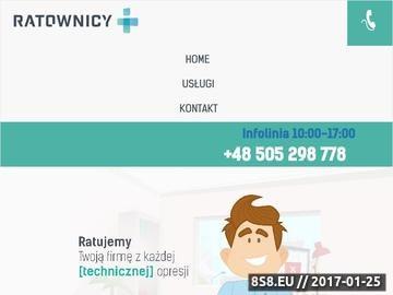 Zrzut strony Usługi informatyczne dla firm Poznań