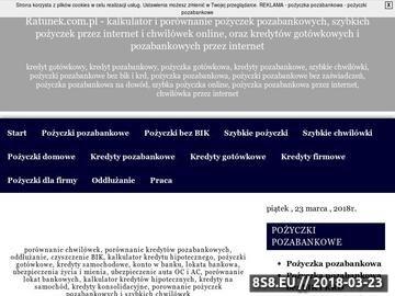 Zrzut strony Pożyczki pozabankowe przez internet