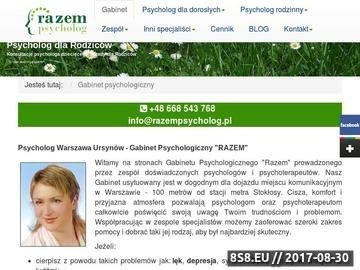 Zrzut strony Gabinet Psychologiczny RAZEM Warszawa Ursynów