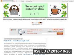 Miniaturka domeny recenzje-stron.blogspot.com