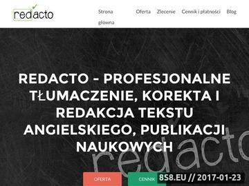 Zrzut strony Redacto - korekta publikacji