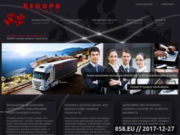 Zrzut strony Monitoring GPS - REDGPS