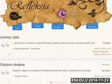 Zrzut strony Zbiór cytatów, refleksji, aforyzmów, tekstów z piosenek