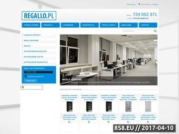 Zrzut strony Regallo.pl - regały metalowe, magazynowe i szafki metalowe