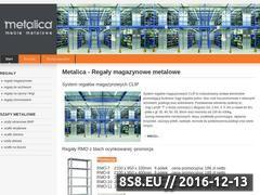 Miniaturka domeny regaly.metalica.com.pl