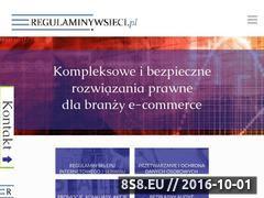 Miniaturka domeny regulaminywsieci.pl