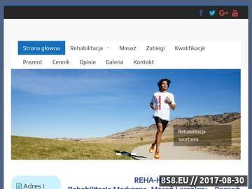 Zrzut strony REHA-HELP Rehabilitacja, Masaż, Fizykoterapia, Poznań