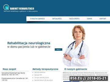 Zrzut strony Rehabilitacja w domu pacjenta, Katowice