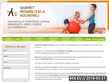 Zrzut strony Rehabilitacja Warszawa
