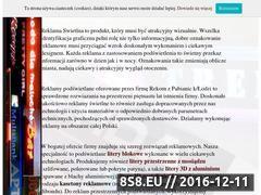 Miniaturka domeny www.reklamaswietlna-online.pl