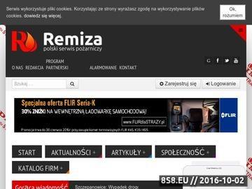 Zrzut strony Remiza - Portal Strażaka