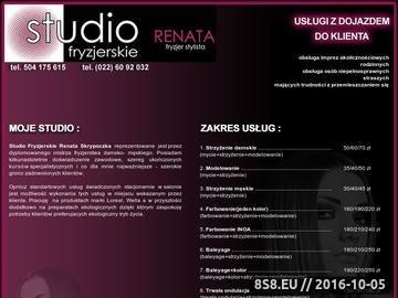 Zrzut strony Studio fryzjerskie Renata Skrypoczka