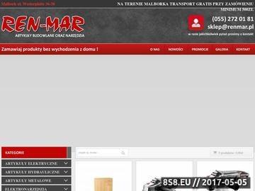 Zrzut strony REN-MAR Sklep ogólnobudowlany hurt/detal. Art. budowlane, narzędzia, meble.
