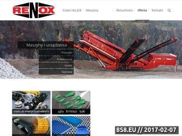 Zrzut strony RENOX maszyny budowalne
