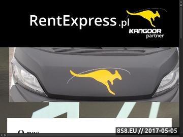 Zrzut strony Wynajem aut Rent Express