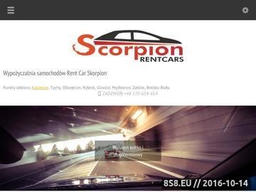 Zrzut strony Rent Car Skorpion - Wynajem samochodów Tychy