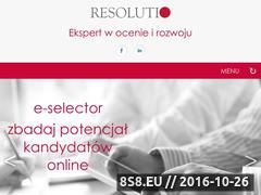 Miniaturka domeny www.resolutio.pl