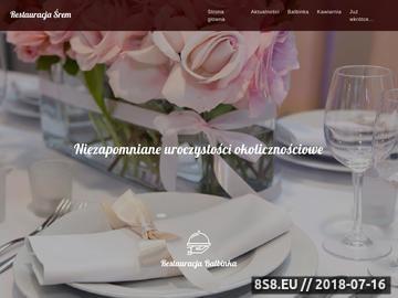 Zrzut strony Restauracja Kawiarnia Balbinka Śrem