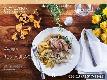 Zrzut strony Restauracjaavangarda.pl - Kraków