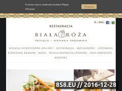 Miniaturka domeny www.restauracjabialaroza.pl