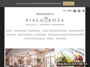 Zrzut strony Restauracja Kraków - Biała Róża