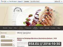 Miniaturka domeny www.restauracjakuchniaiwino.pl