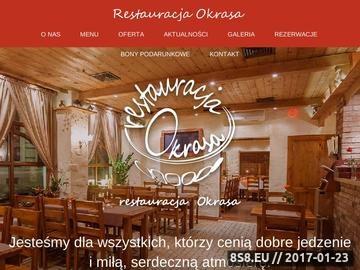 Zrzut strony Okrasa specjalizuje się w kuchni polskiej