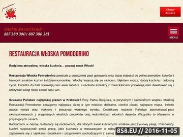 Zrzut strony Wyśmienita kuchnia włoska również w dostawie w Krakowie