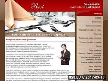 Zrzut strony Rest - zaopatrzenie gastronomii w urządzenia