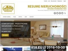Miniaturka domeny resume.nieruchomosci.pl