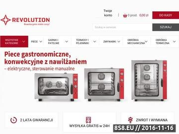 Zrzut strony Revolution - hurtownia gastronomiczna