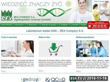 Zrzut strony Badania dna, testy na ojcostwo, badania na celiakię