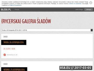 Zrzut strony {Rycerska} galeria śladów - bloog.pl