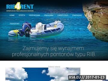 Zrzut strony Oferujemy wypożyczenie pontonów typu RIB