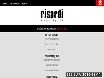 Zrzut strony Risardi.pl - koszule