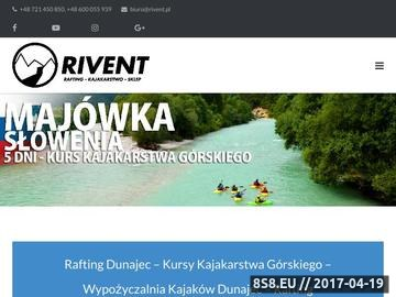 Zrzut strony Rivent - rafting Szczawnica, spływy kajakowe i pontonowe Dunajec