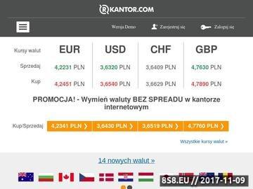Zrzut strony Rkantor - kantor online