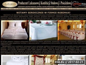Zrzut strony Robimax - pościel