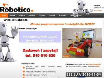 Zrzut strony Robotico - kursy robotyki dla dzieci