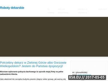 Zrzut strony Roboty dekarskie Marcin Zientek - dekarz Zielona Góra