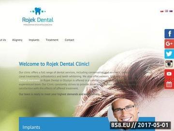 Zrzut strony Dr Klaudiusz Rojek - dentysta Olsztyn