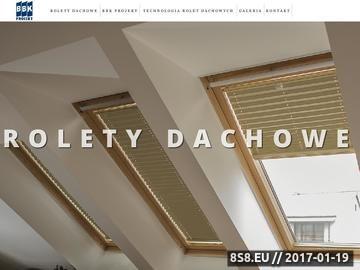 Zrzut strony Rolety dachowe