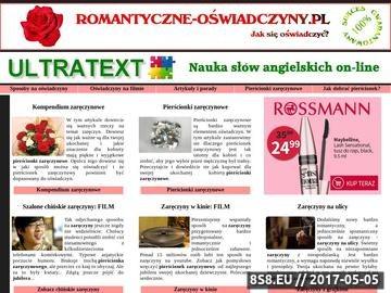 Zrzut strony Oświadczyny - romantyczne sposoby