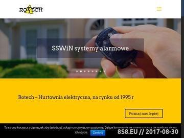 Zrzut strony Systemy alarmowe Rotech