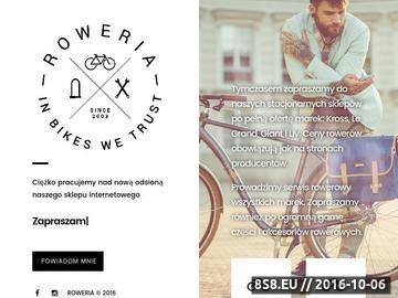 Zrzut strony Sklep rowerowy Wrocław