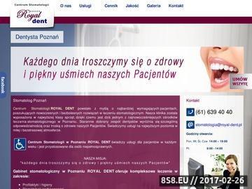 Zrzut strony Stomatologia w Poznaniu