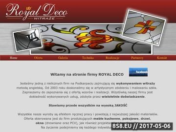 Zrzut strony Royal Deco - witraże Rzeszów