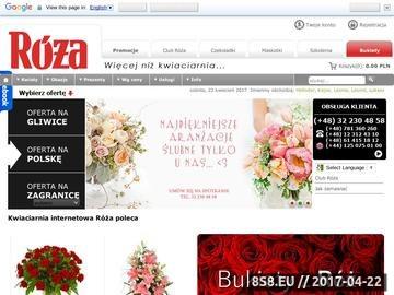 Zrzut strony Internetowa kwiaciarnia Gliwice, kwiaty online